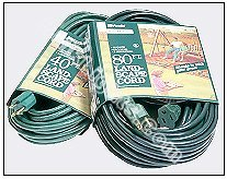 80' Outdoor Green Extension Cord - Click Image to Close