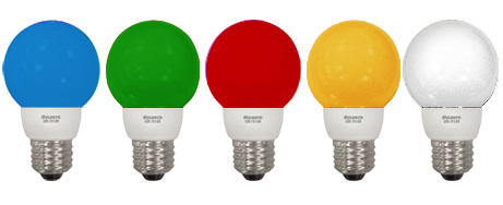 G16 Colored LED Bulbs
